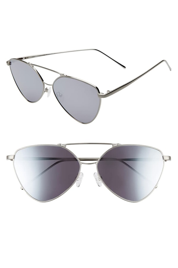 Cat eye sunglasses with wire frames