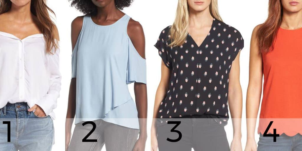 Four tops priced under $50 from Nordstrom's Anniversary Sale