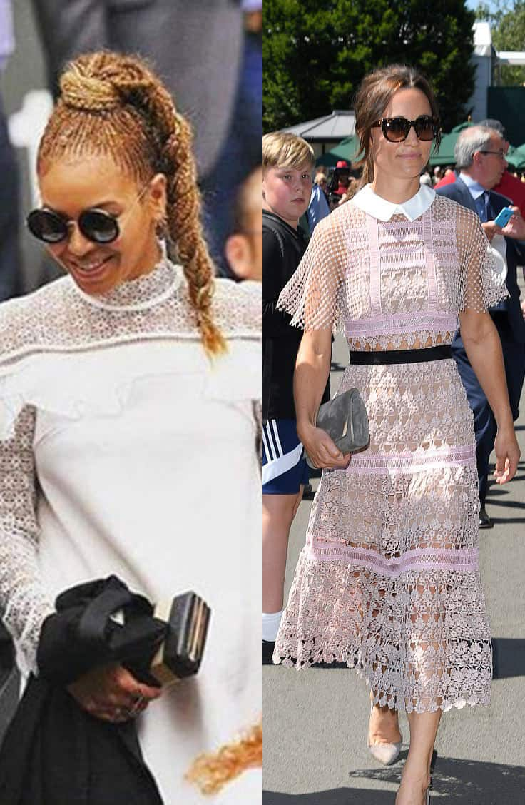 Beyonce and Pippa Middleton Wearing Self Portrait at Wimbledon