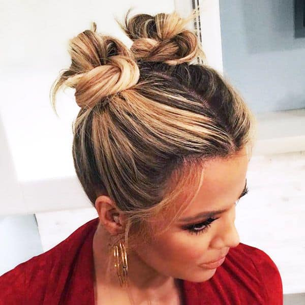 Summer hair styles - top knots