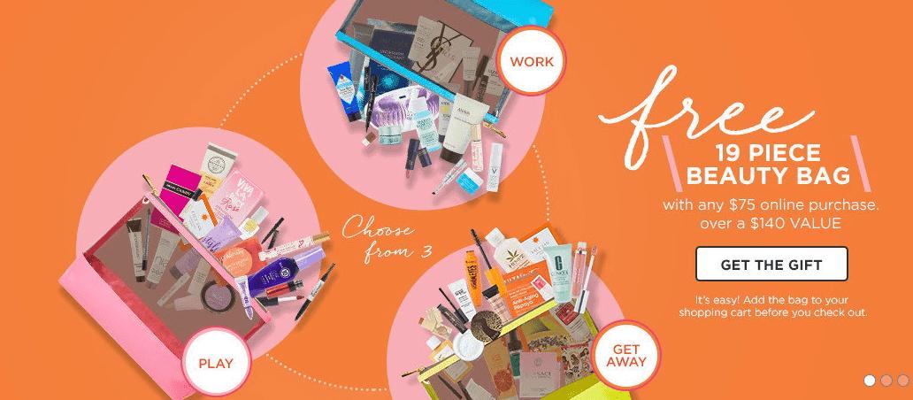 Ulta Beauty Sale Banner - Free 19 piece beauty kit with $75 purchase