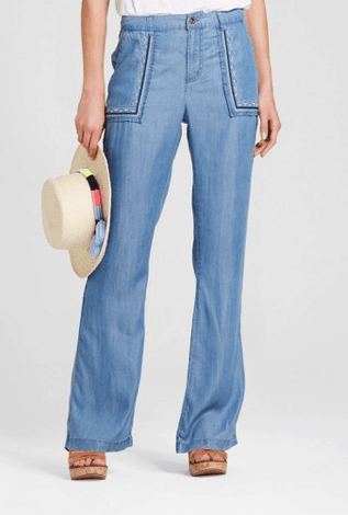 Chambray, wide-legged pants from Target