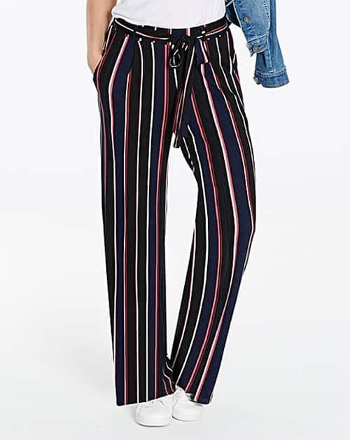 Wide-legged, striped pants