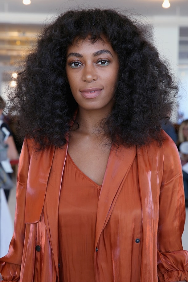 Solange with a textured, blunt cut