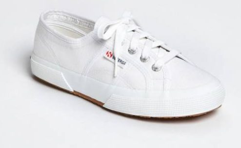 White canvas sneaker by Superga