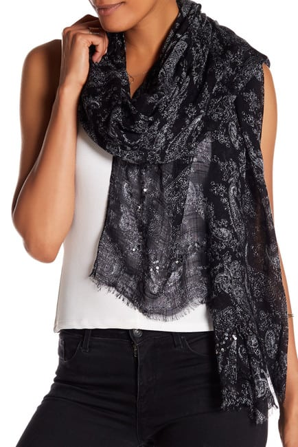 paisley and sequin scarf