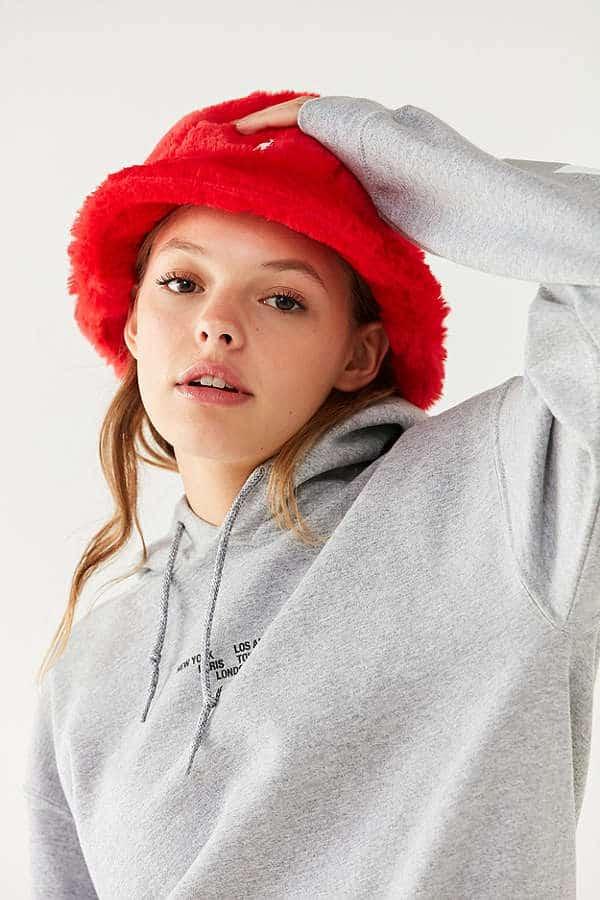 Orange fur hat