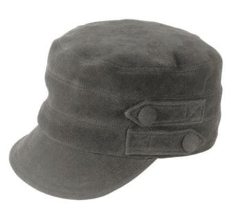 Gray suede boaters cap