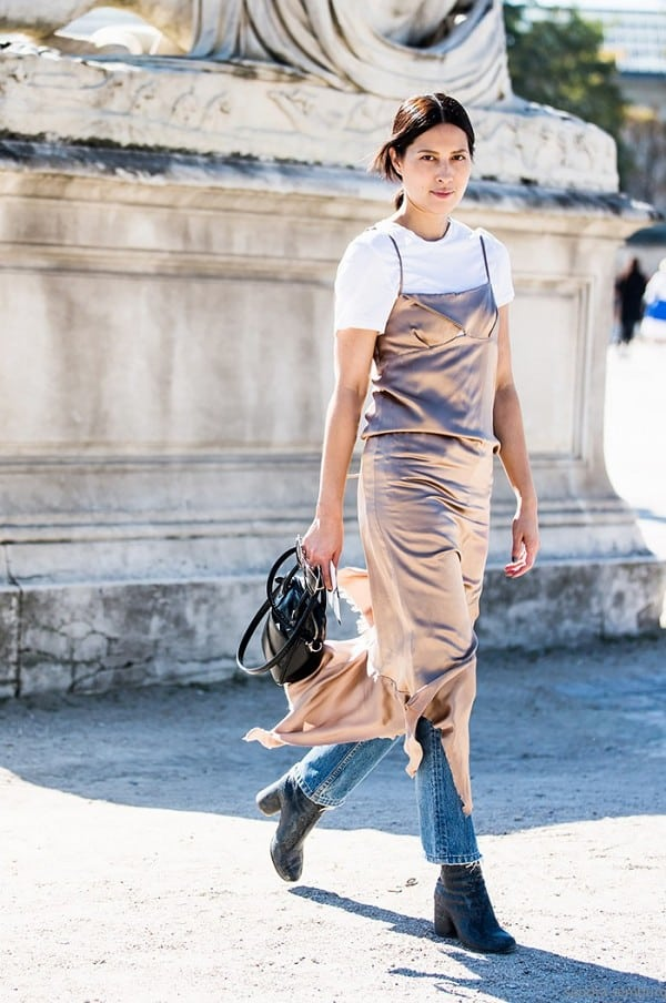 Tees to Layer With Your Summer Dresses for Fall