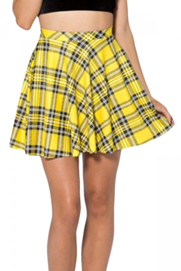 Yellow and black skater skirt, inspired by Cher of Clueless