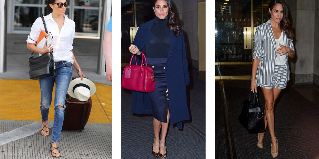 Meghan Markle in three outfits
