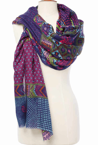 Multicolored scarf sold on Warriors in Pink website