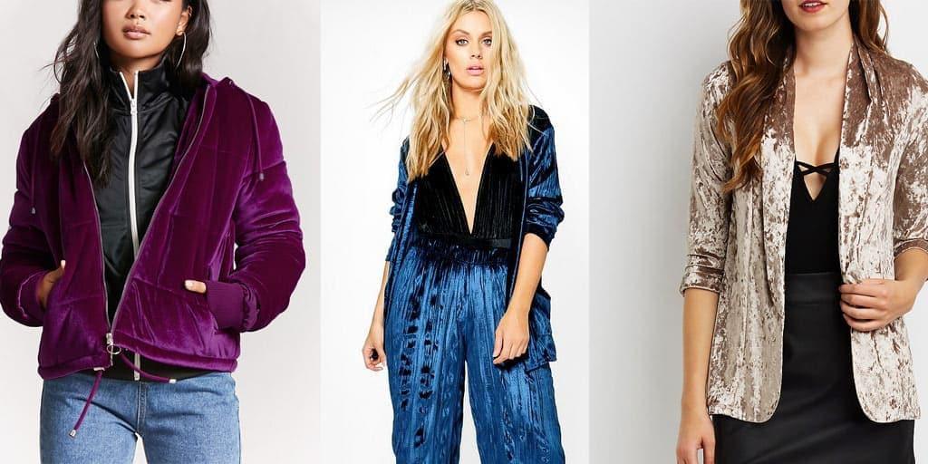 Velvet trends - three velvet pieces for fall