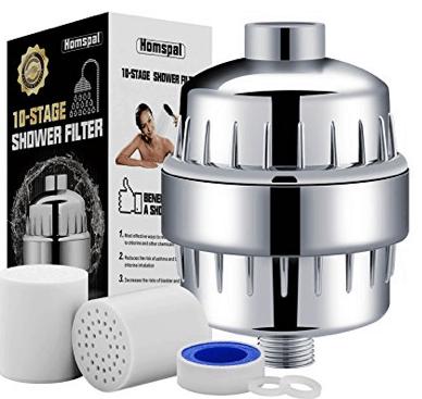 Inline shower filter