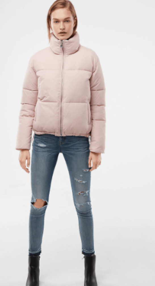 Pink Puffer Jacket from Express