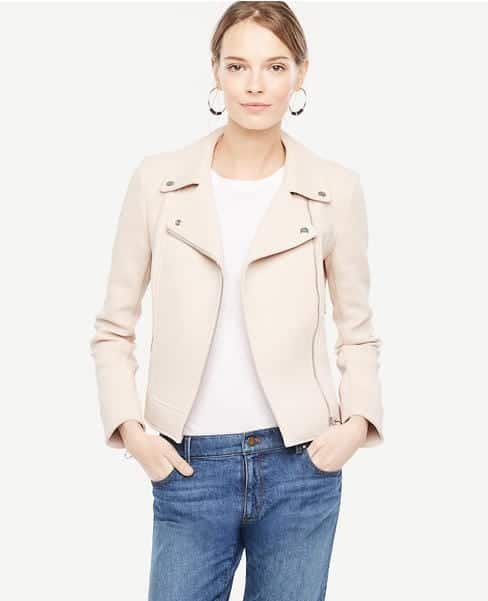 Light Pink Moto Jacket