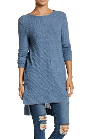 Ribbed Tunic from Nordstrom Rack in Blue