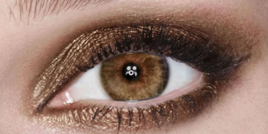 Sparkly copper eye makeup