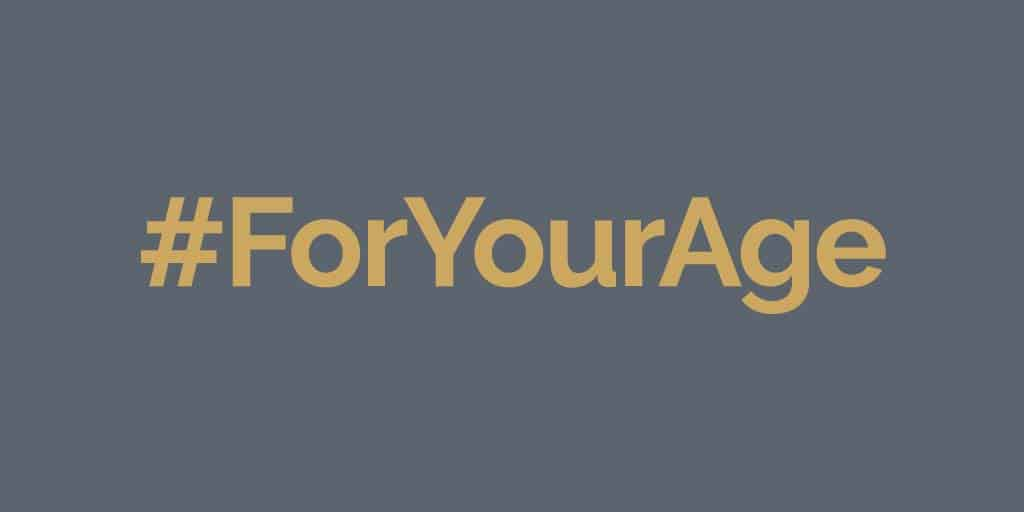 "#foryouage campaign - share stories of ""for your age"" backhanded compliments"