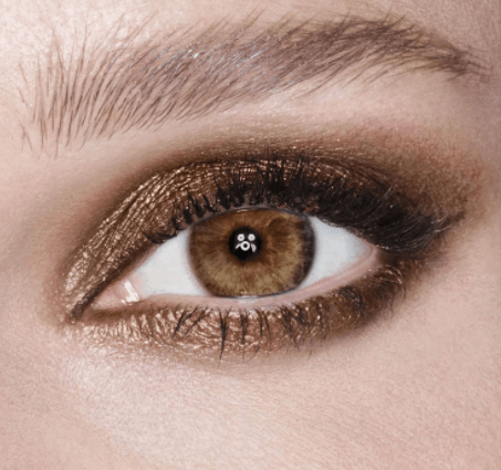Copper smokey eye makeup