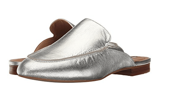 Silver Slip on Loafers from Zappos
