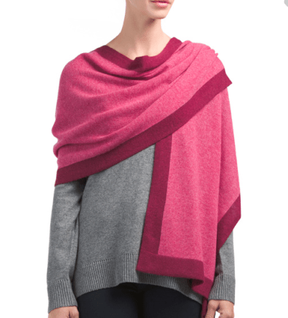Pink on pink cashmere wrap