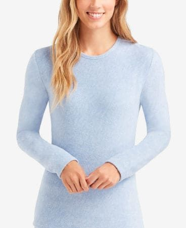 Powder blue fleece top