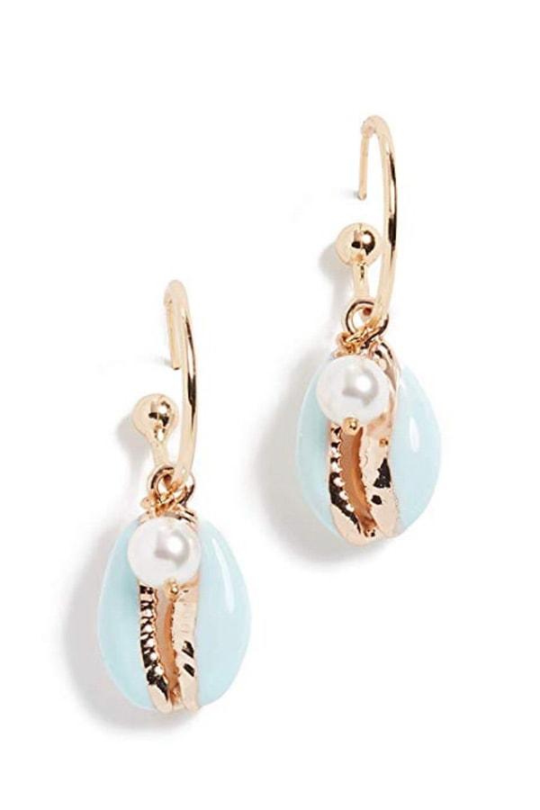 Shell earrings from Amazon