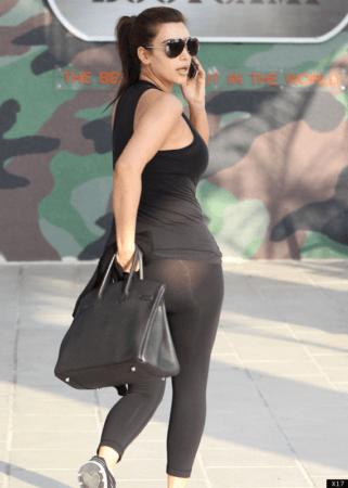 Kim Kardashian wearing leggings