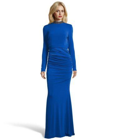 Two piece royal blue dress