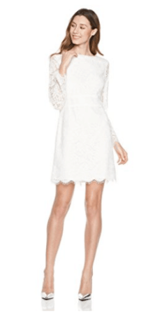 White Lace LIned Dress from Amazon