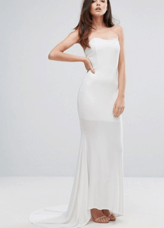 White mididress with tail