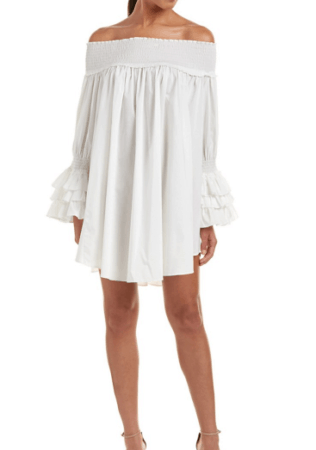 White off-shoulder date night dress from Bluefly