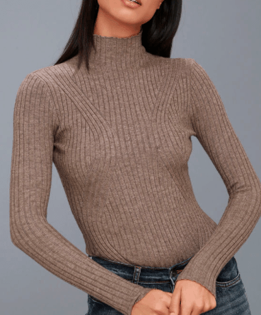 Light brown long sleeved body suit