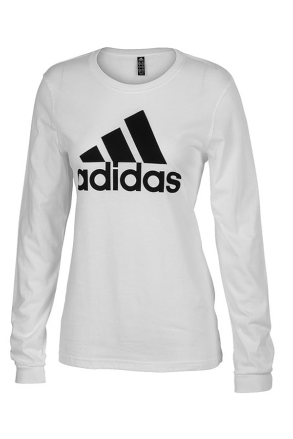 Long sleeved white Adidas top