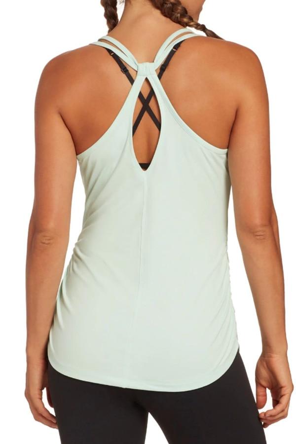 Mint green workout tank top