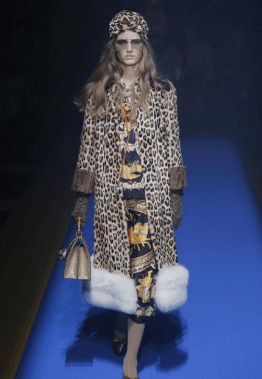 Gucci leopard print coat