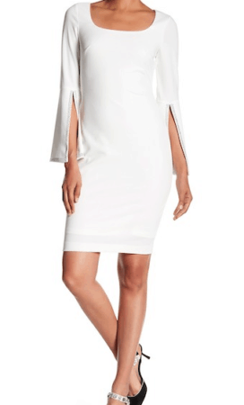 White, wide-sleeved dress