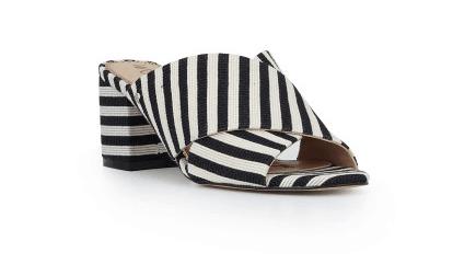 Striped mule shoe