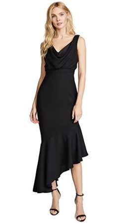 Black v neck empire waist cocktail dress