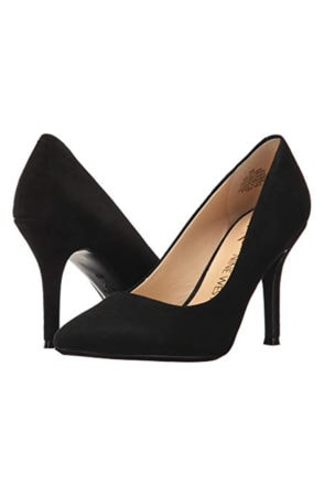 Black suede pump
