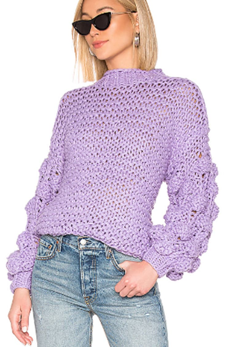 Crochet weave sweater