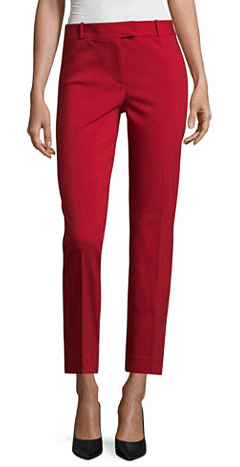 Red ankle pant
