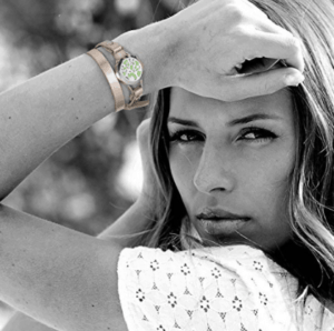 Woman wearing aromatherapy bracelet