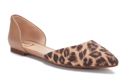 Leopard print flats for spring