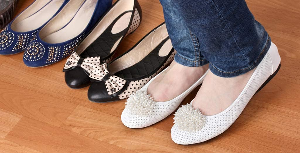 spring flats -- collection of flat soled shoes