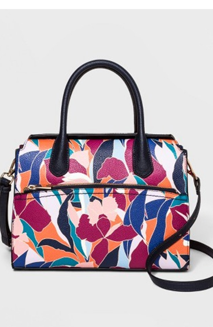 Colorful floral satchel from target
