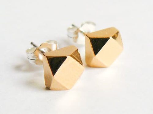 Gold stud earrings from Etsy