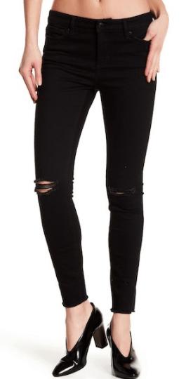 Black ripped jeans -- Nicki Minaj look for less