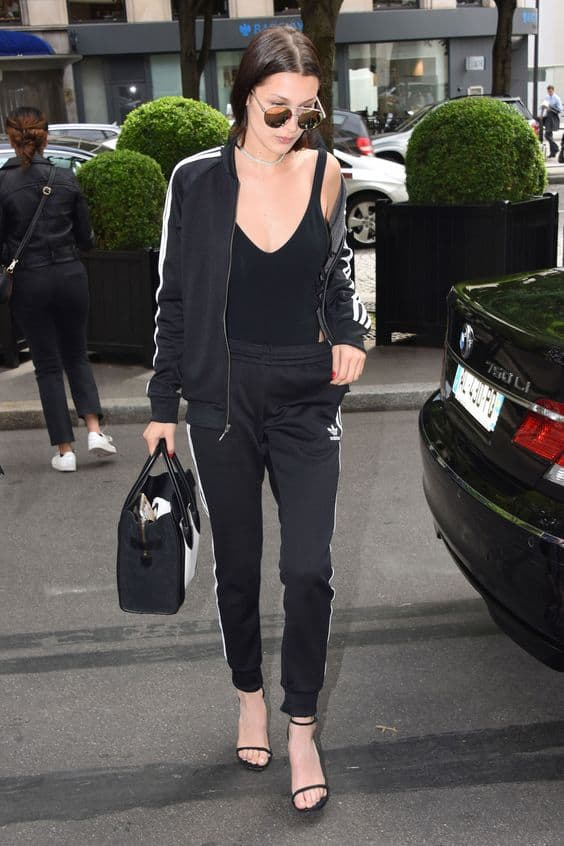 Bodysuit outfit with track suit